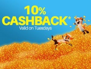 Cashback casino deposit bonus