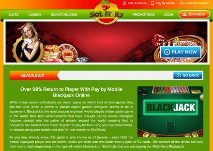 Pay by Mobile Blackjack Online