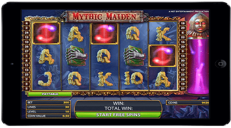 Mythic Maiden Online and Mobile Pay By Phone Bill Slots Game