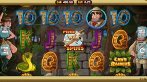 cave raiders slots online UK