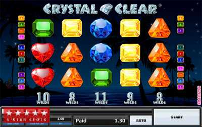Crystal Clear Slot Machine Game UK