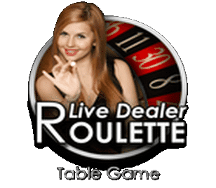 Attractive live dealer spinning the ball
